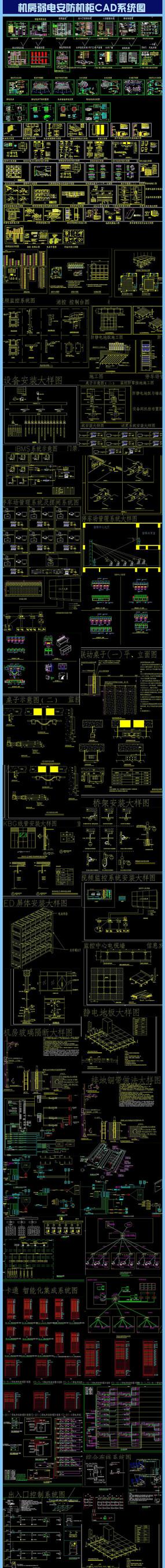 机房弱电安防机柜CAD系统图