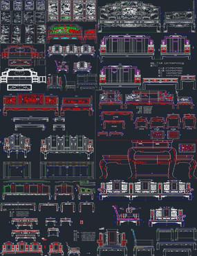 精品中式家具CAD图库