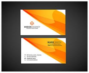 橙色简约公司名片设计模板
