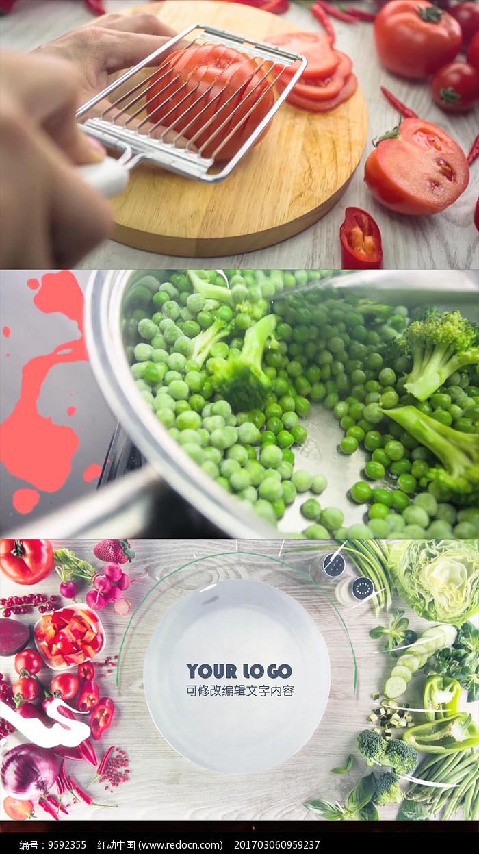 创意美食动画包装片头AE模板图片