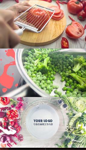 创意美食动画包装片头AE模板