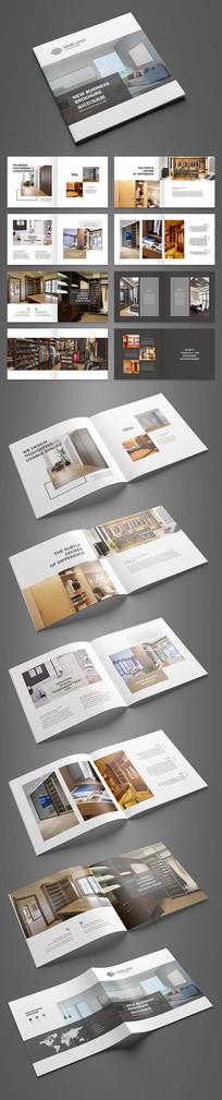 简约方版家居画册设计模板