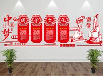 中国梦国学文化墙
