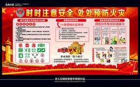 消防安全主题宣传展板设计