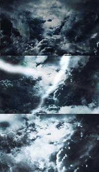 4K乌云电闪雷鸣背景视频