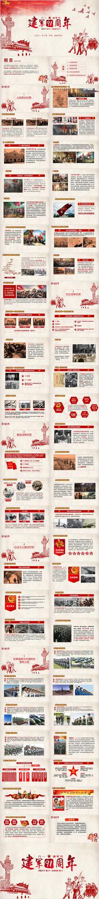 八一建军节91周年党建PPT