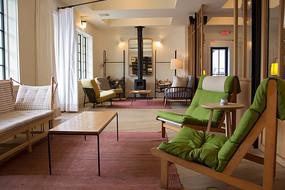 简美设计风格的酒店大堂
