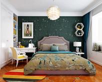简约北欧风格卧室模型素材