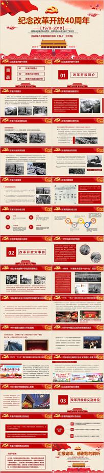 纪念改革开放40年PPT模板