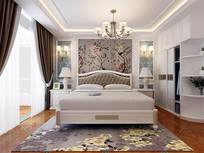 欧式风格主卧室设计模型素材