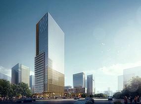 商业大楼建筑外观效果图 JPG