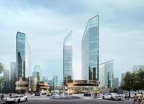 商业建筑设计表现效果图 JPG