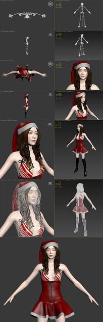 圣诞节服装美女 max
