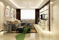 现代风格客厅设计模型素材