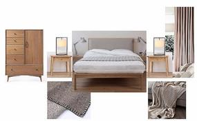 现代中式风格卧室