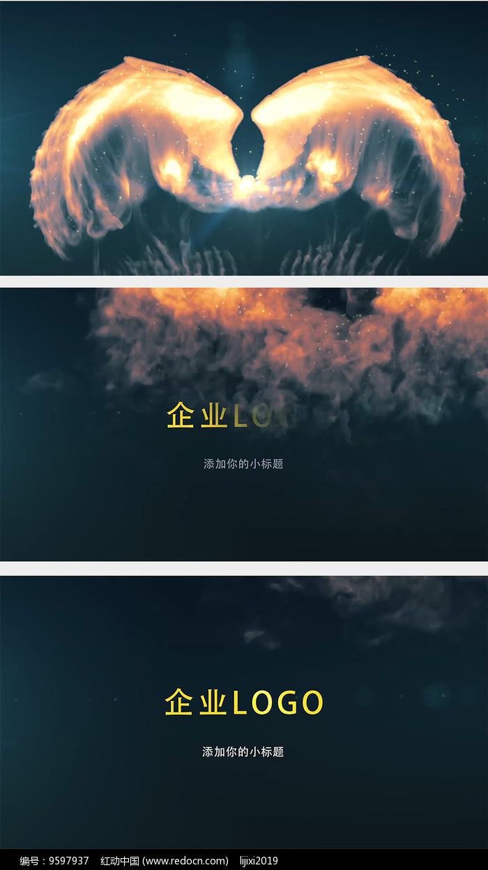 烟雾翅膀logo演绎片头AE图片