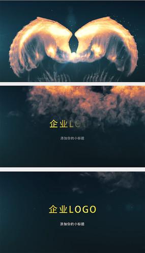 烟雾翅膀logo演绎片头AE