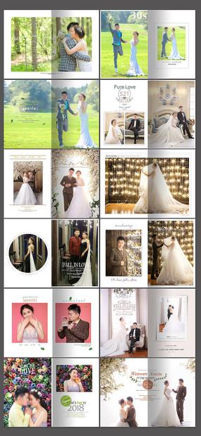 婚纱照相册设计模板 PSD