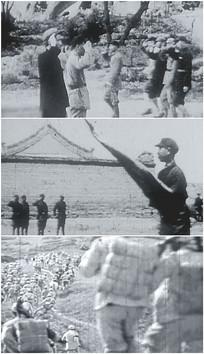 抗日期间向军旗敬礼视频