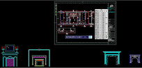 CAD壁炉造型设计图库