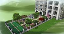 别墅庭院模型