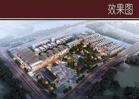 城市商业区规划鸟瞰图 JPG