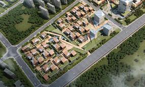 创意园建筑景观鸟瞰图