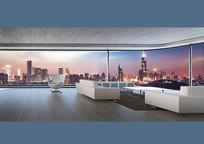 高层玻璃办公室效果图 JPG