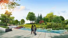 公园滨水景观PSD