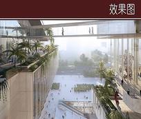 建筑楼间景观效果图 JPG