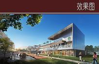 商业建筑侧面透视图 JPG