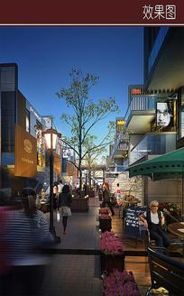 现代商业步行街效果图 JPG