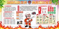 119消防宣传展板设计