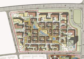 创意园规划彩平图