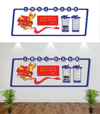 公安文化墙形象墙