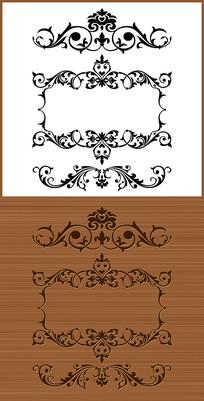 简约欧式花纹边框矢量图案