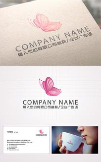 精美动感蝴蝶logo标志