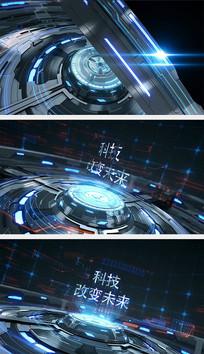 科技3D片头AE模板