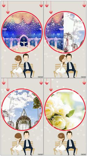 七夕微信小视频AE模板