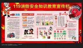 校园消防安全宣传展板设计