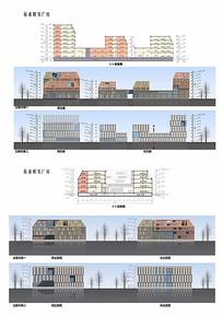 标准厂房建筑立面图