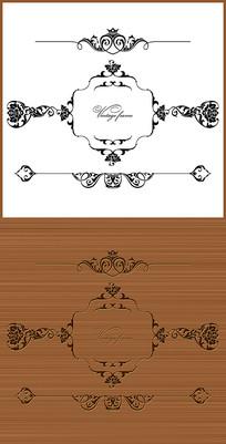 淡雅简约欧式花纹雕刻图案
