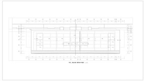 客运大楼屋顶排水平面图