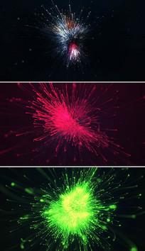 粒子光束logo片头模板