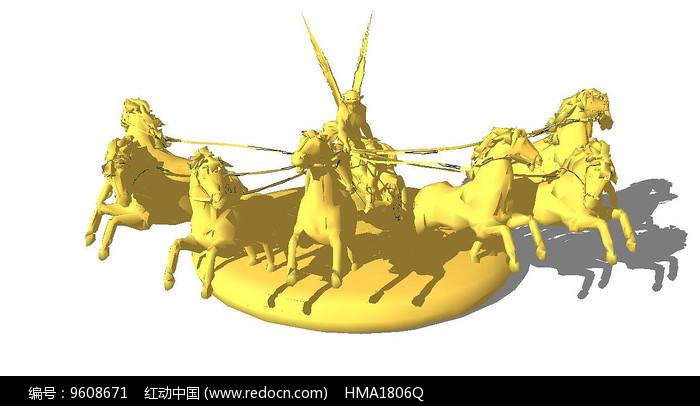 欧式黄金雕塑人像图片