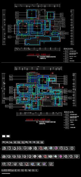 室内跃层施工图 dwg