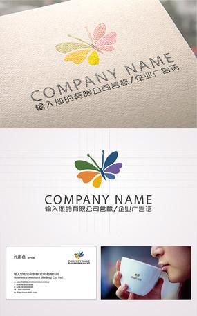 精美时尚蝴蝶logo标志