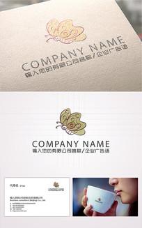 金色蝴蝶logo标志