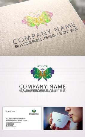 漂亮蝴蝶logo标志
