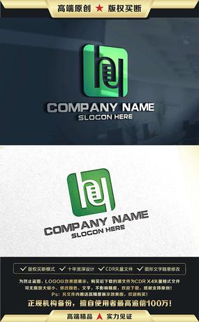 HY字母绿色LOGO设计